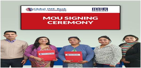 ग्लोबल आइएमई बैंक र आइडिया नेपालबीच सहकार्यसम्बन्धी सम्झौतामा हस्ताक्षर