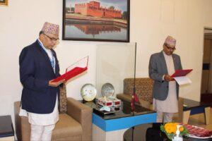 नेपाल बैंकको अध्यक्षमा नियुक्त सुमनराज अर्यालले गोपनियताको शपथ